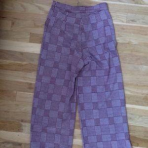Good Luck Gem Pants - Plaid, flair trousers